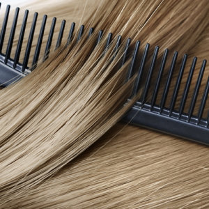 dry, untangled hair that can be easily combed